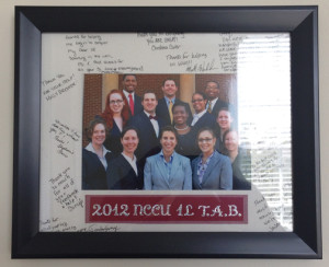 This photo is on the wall next to my desk in the office. Every single one of them has graduated now.